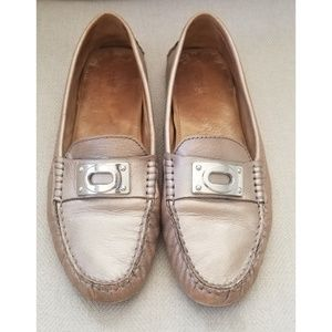 Coach Napoleon Pewter Loafer Size 9B